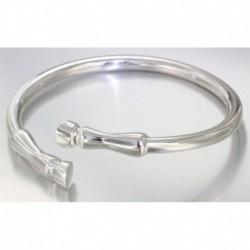Bracelet Galop en argent rhodié