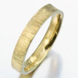Alliance effet givré femme en or