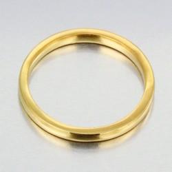Alliance bombée fine femme en or