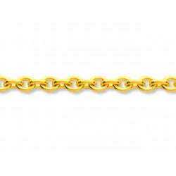 Chaîne forçat ronde, Or jaune 18k, 1,3 mm, 40 cm