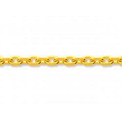 Chaîne forçat limée, Or jaune 18k, 1,4 mm, 40 cm