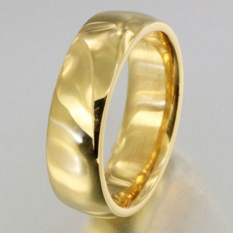 bague homme or large