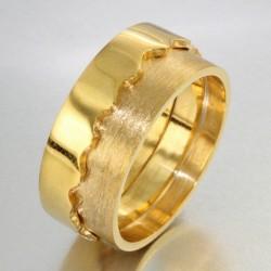 Alliance bi-matière homme en or