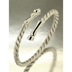 Un bracelet GALOPADE en argent mat et brillant rhodié.