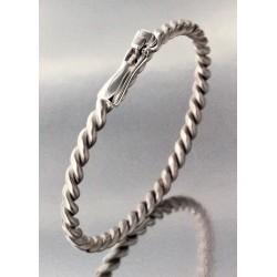 Un bracelet HANSE  en argent rhodié.