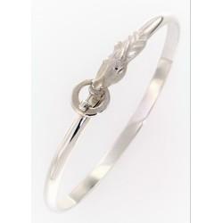 Un bracelet LUSITANIEN  en argent mat et brillant rhodié